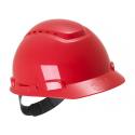 3M™ H700N-RD Casque de sécurité rouge ventilé