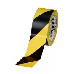 3M™ 766i Vinyle Tape jaune/noir 50mmx33m