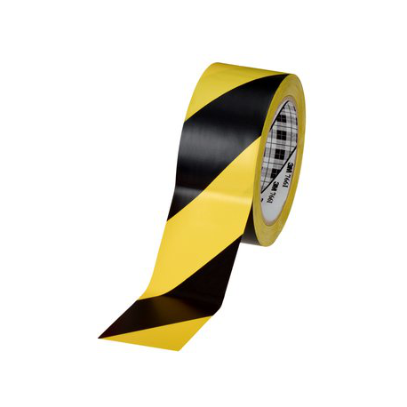 3M™ 766i Vinyle Tape yellow/black 50mmx33m
