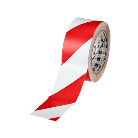 3M™ 766i Vinyle Tape rosso/bianco 50mmx33m
