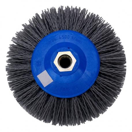Abrasive radial brush Tynex K120 PE body 140mm M14 thread